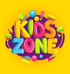 kids zone vector image