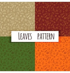 Seamless Leaves Doodle vector image vector image