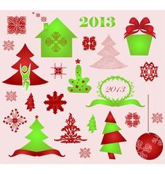 winter design elements vector image
