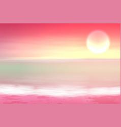 beautiful purple sea sunset vector image vector image
