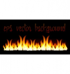 burn flame fire vector background vector image vector image