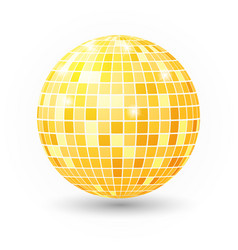 disco ball isolated night club party vector image