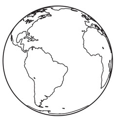 globe outline icon vector image vector image