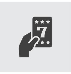 Lucky card icon vector image vector image