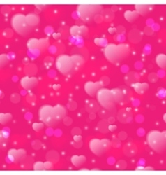 Seamless pattern with fuzzy hearts on pink vector
