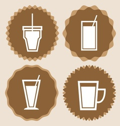 Set of coffee cup icon badges vector image