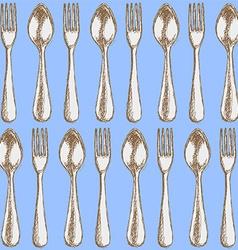 Sketch utencil in vintage style vector image vector image