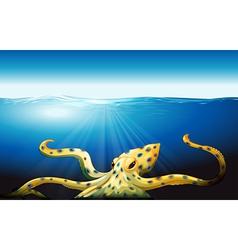 A big octopus under the sea vector