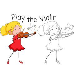 A violin musician graphic vector