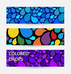 Abstract bright banner with drops water bright vector