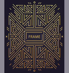 abstract geometric art deco frame border vector image