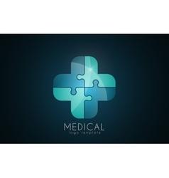 Abstract medical logo Puzzle medicine logo vector image