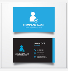 Add user account icon business card template vector