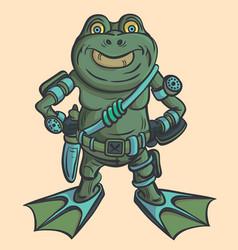 Amphibian warrior alien alien intelligence vector