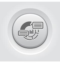 Analytics Icon Grey Button Design vector image