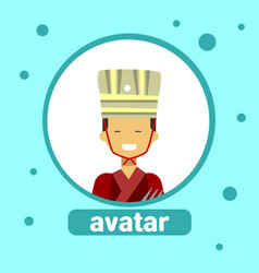 asian man avatar icon thai male in traditional vector image