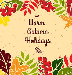 Autumn leaves frame Flat style vector image