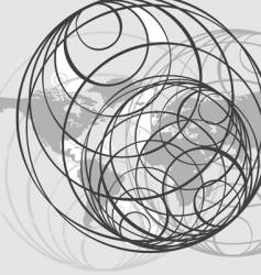 background globes vector image