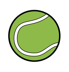ball tennis sport equipment game icon vector image