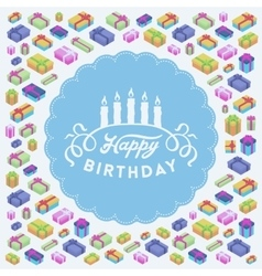 Birthday decorating design vector image vector image