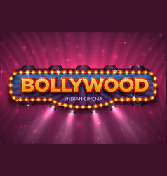 bollywood background indian cinema poster vector image