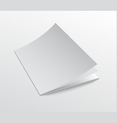 Brochure cover mockup with open moving pages vector
