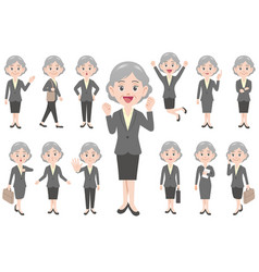 businesswoman in different poses vector image