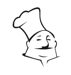 Cartoon chef in toque vector image