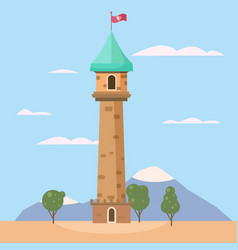 Castle medieval romantic tower medieval ancient vector