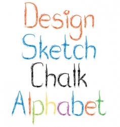 chalk letters vector image