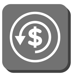 Chargeback Rounded Square Icon vector