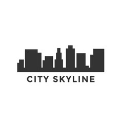 city skyline silhouette design template vector image