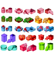 collection of different gift boxes vector image