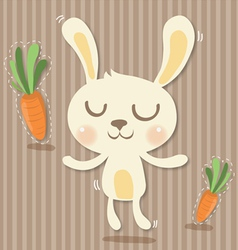 cony and carrots vector image