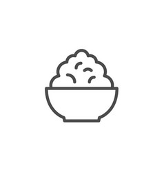 Cottage cheese line outline icon vector