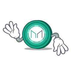 Crazy maker coin mascot cartoon vector