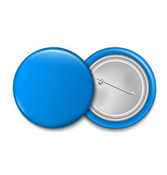 creative of 3d pin button vector image