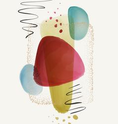 Creative paintbrush spots watercolor blotch blots vector