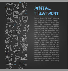 Design of article about dentistry vector