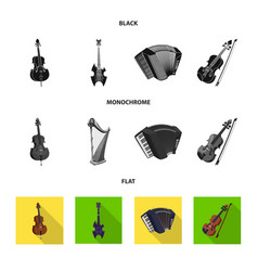 Design of music and tune symbol set of vector