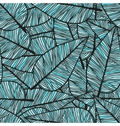 Doodling hand drawn seamless background with vector