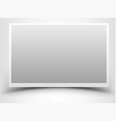 Empty gray photo frame with shadow vector