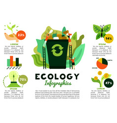 environmental restoration infographics vector image