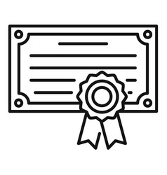 Exam diploma icon outline style vector