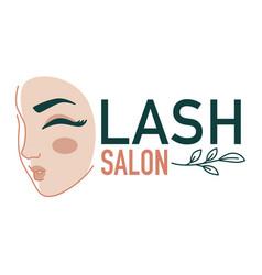 Eyelash extension salon beauty studio for women vector