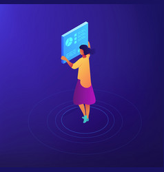 female seo expert isometric vector image