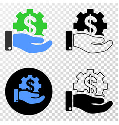 Financial service offer eps icon with vector