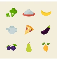 Flat design colored of food vector image