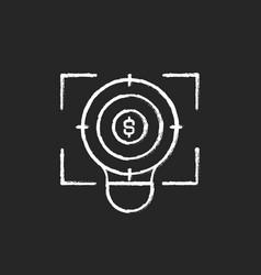 Focus chalk white icon on black background vector