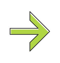 Forward green arrow color icon next right arrow vector